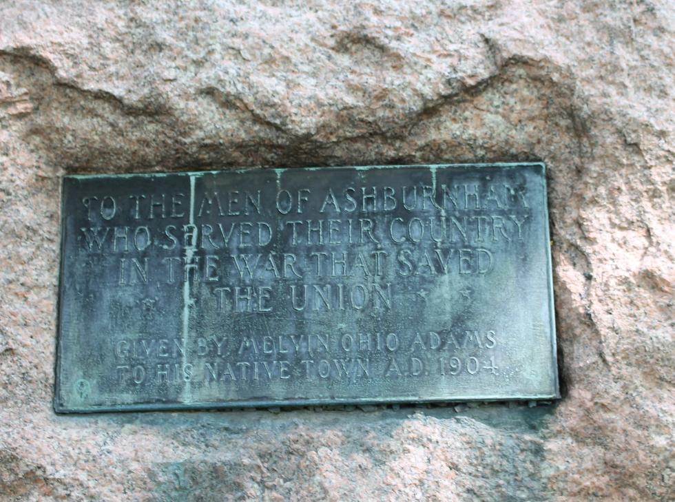 Ashburnham Mass Civil War Memorial