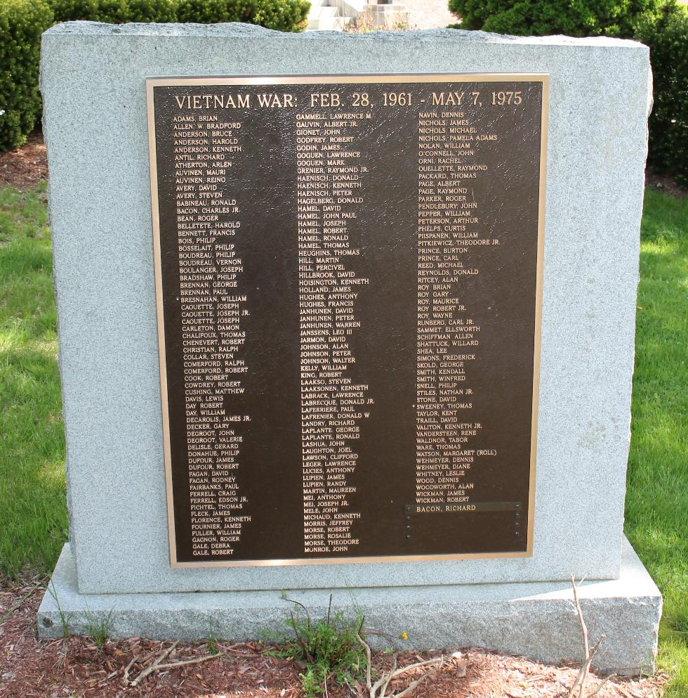 Ashburnham Mass Vietnam War Veterans Memorial