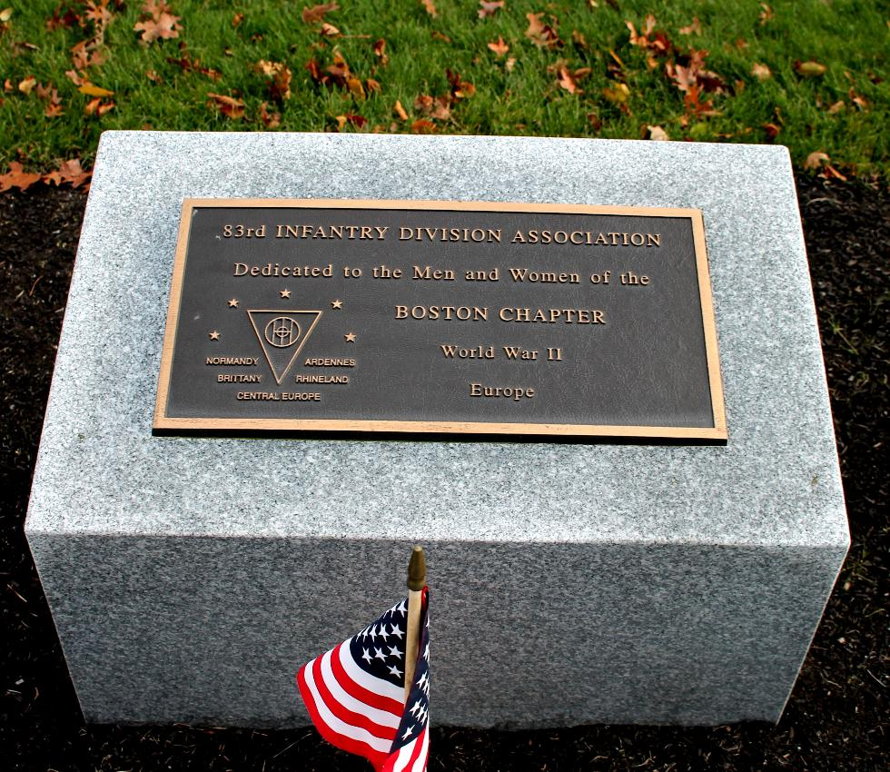 Bourne Massachusetts National Cemetery Memorial Walkway - 83rd Infantry Division