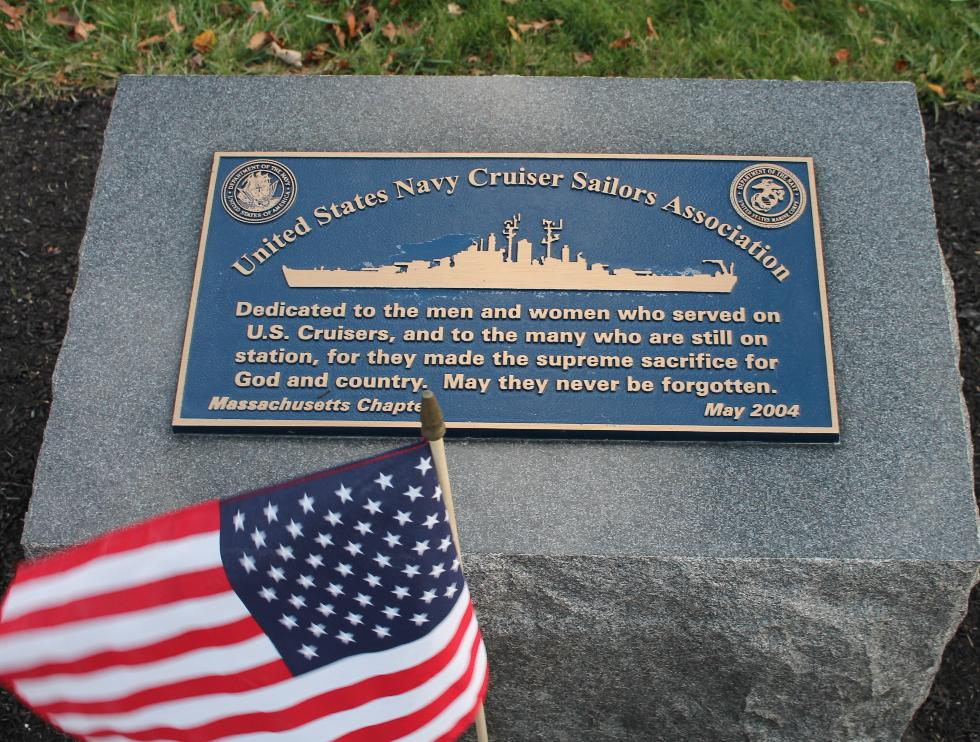 Bourne National Cemetery - US Navy Cruiser Association Memorial