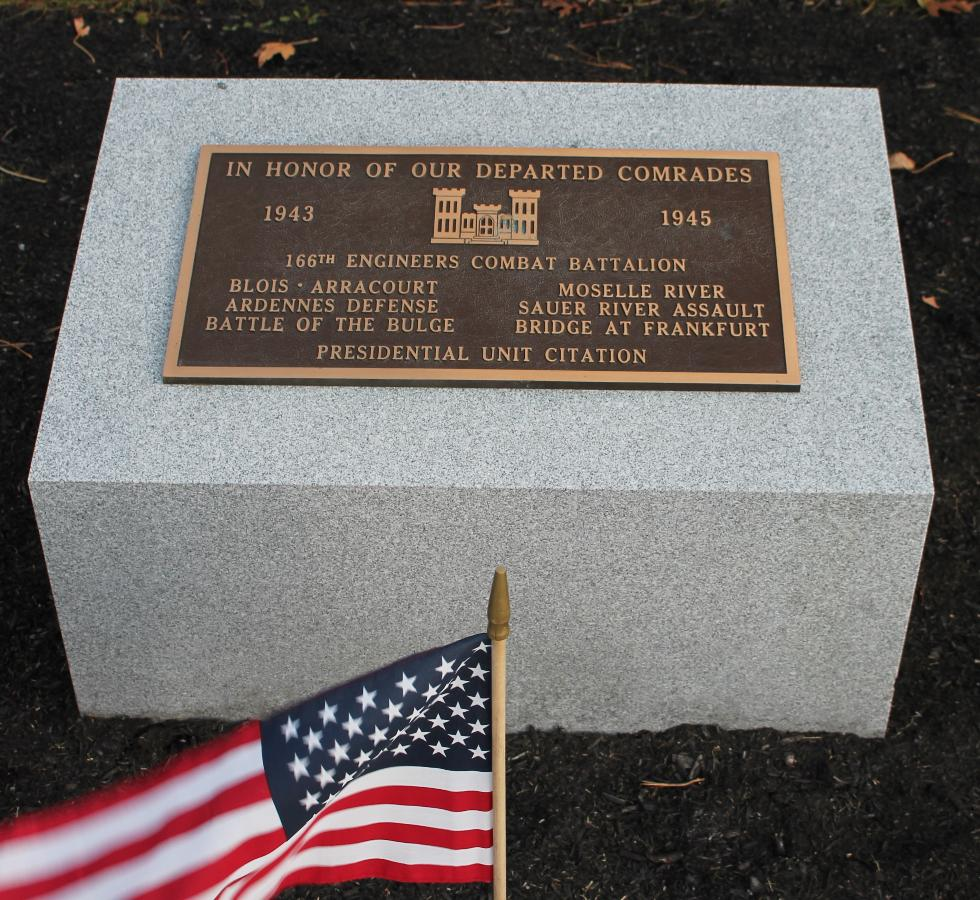 Bourne Mass National Cemetery - 166th Engineers Combat Battalion Memorial