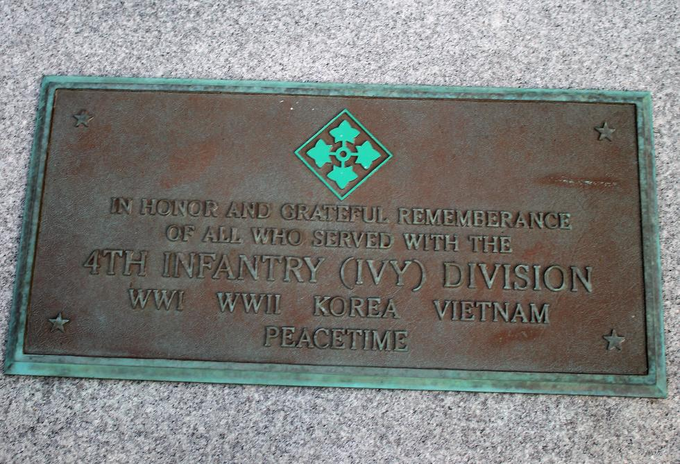 Bourne Mass National Cemetery - Fourth Infantry (Ivy) Veterans Memorial