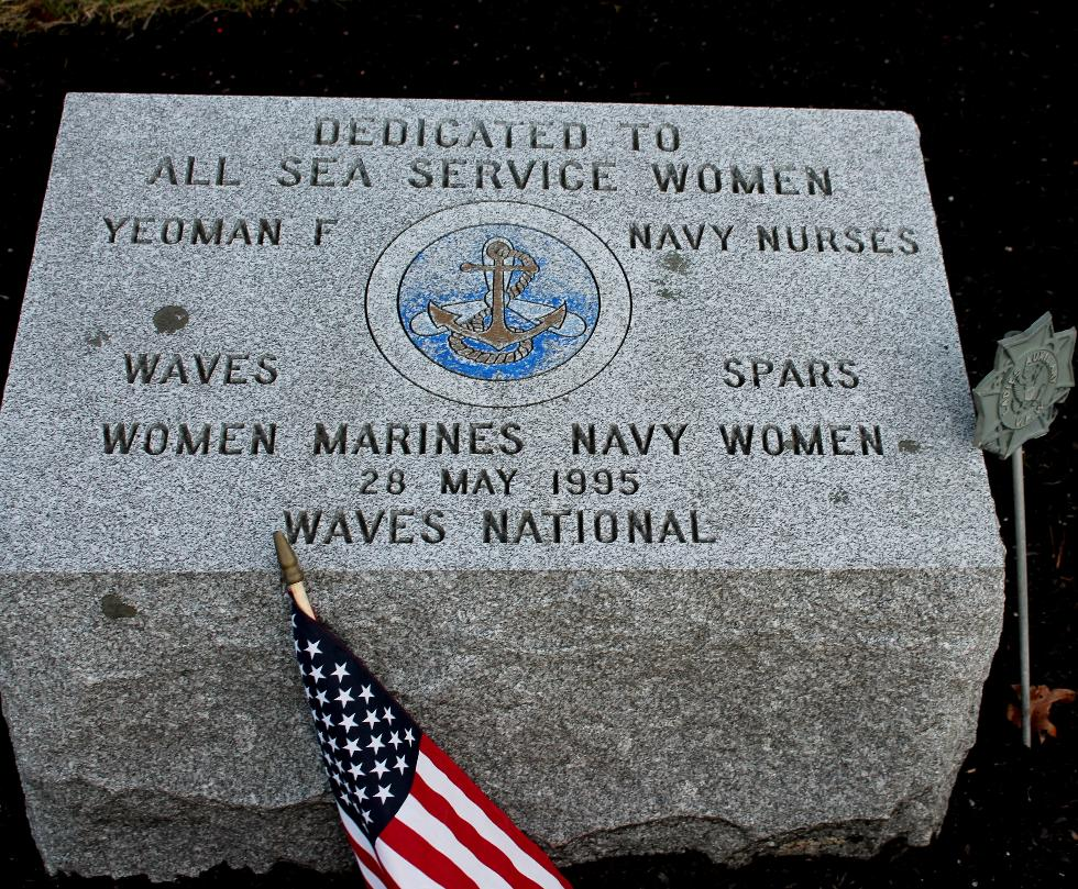 Bourne Mass National Cemetery - Sea Service Women Memorial