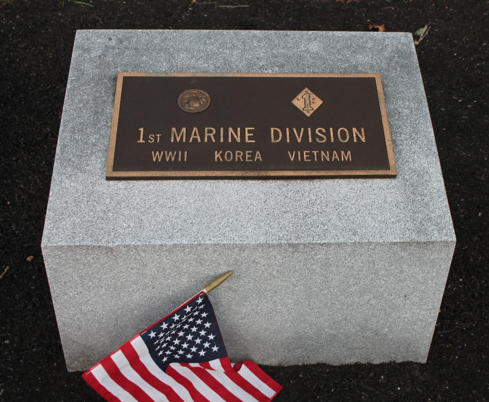 Bourne Mass National Cemetery - 1st Marine Division Memorial