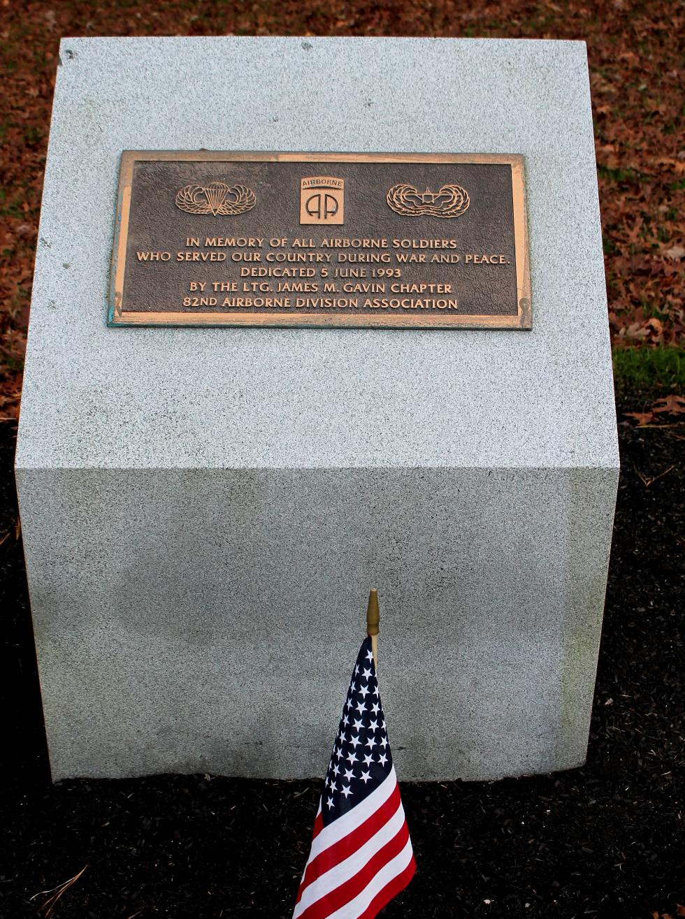 Bourne Mass National Cemetery - 82nd Airborne Division Memorial