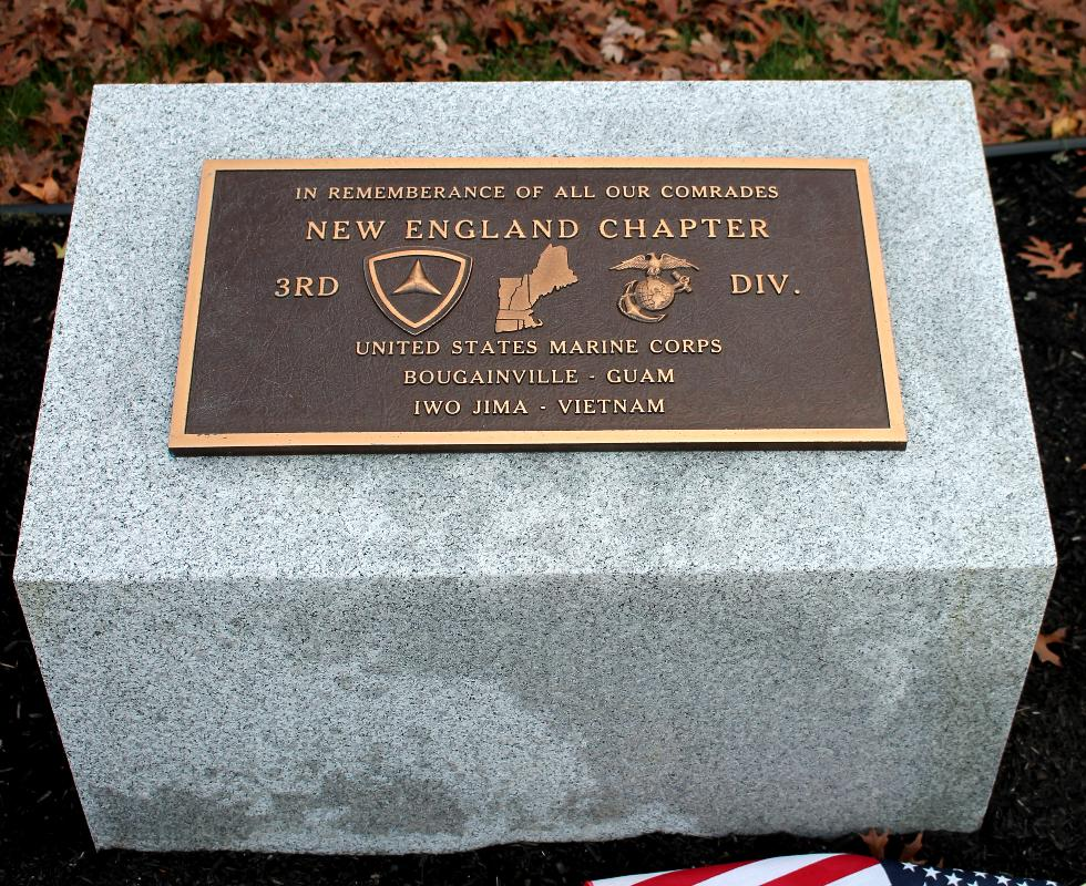 Bourne Mass National Cemetery - United States Marine Corps - 3rd Division Memorial