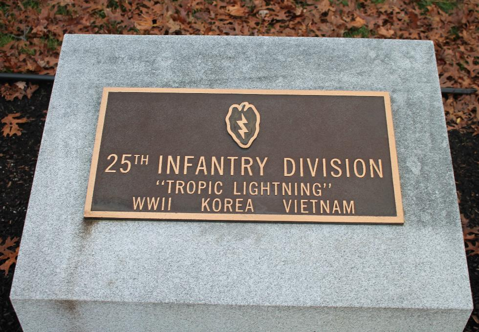 Bourne Mass National Cemetery - 25th Infantry Division Memorial
