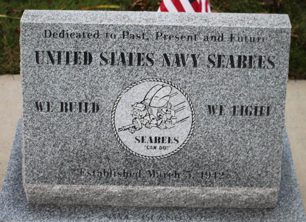 Bourne Mass National Cemetery - United States Navy Seabees Memorial