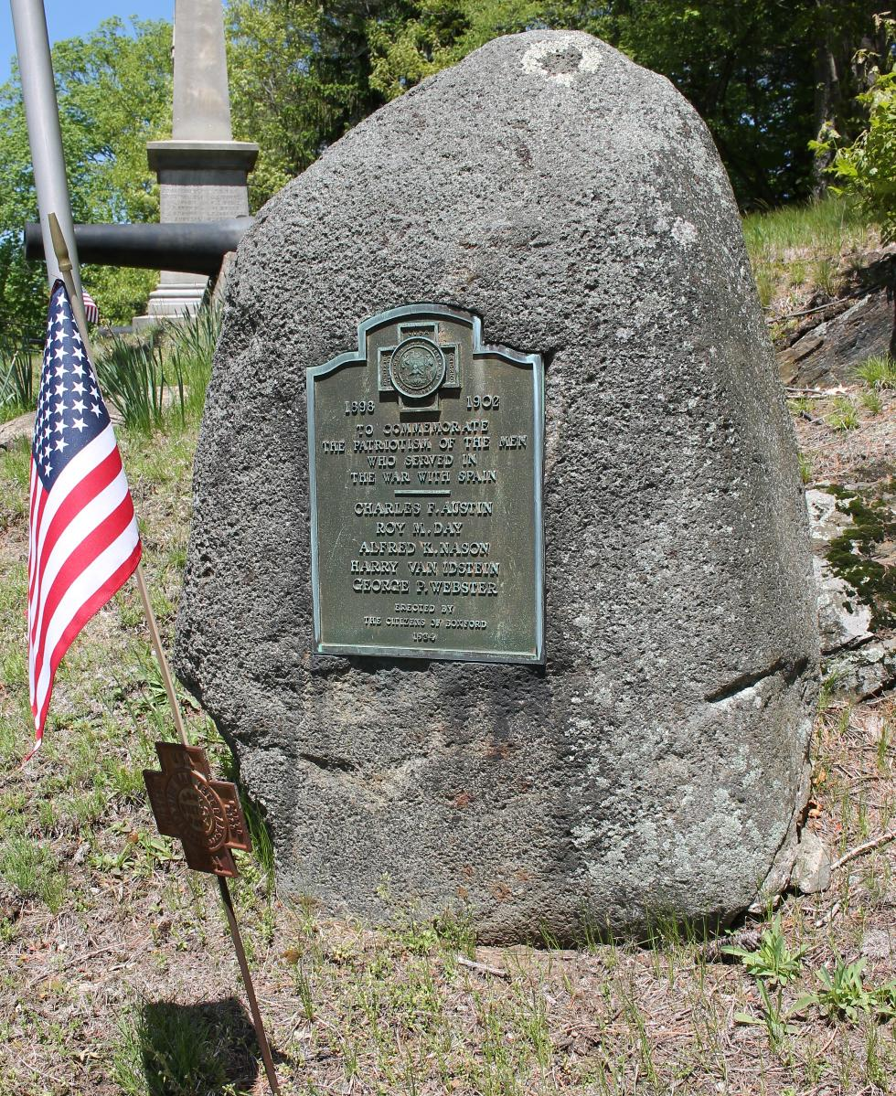 Boxford Massachusetts Spanish-American War Veterans Memorial