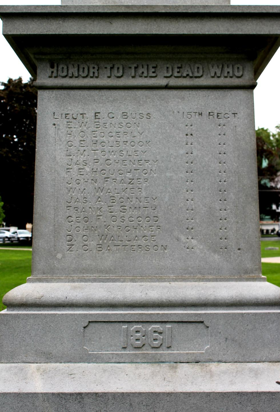 Clinton Massacusetts Civil War Veterans Memorial