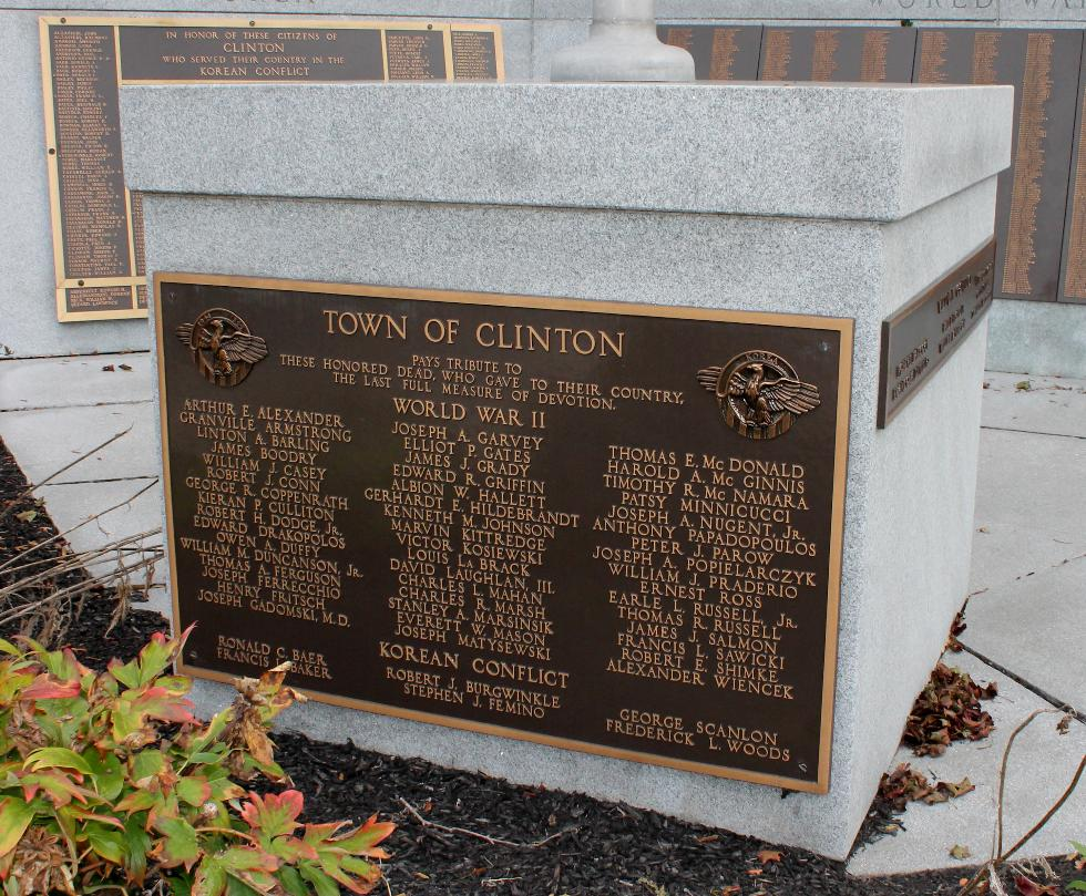 Clinton Massachusetts World War II Veterans Memorial