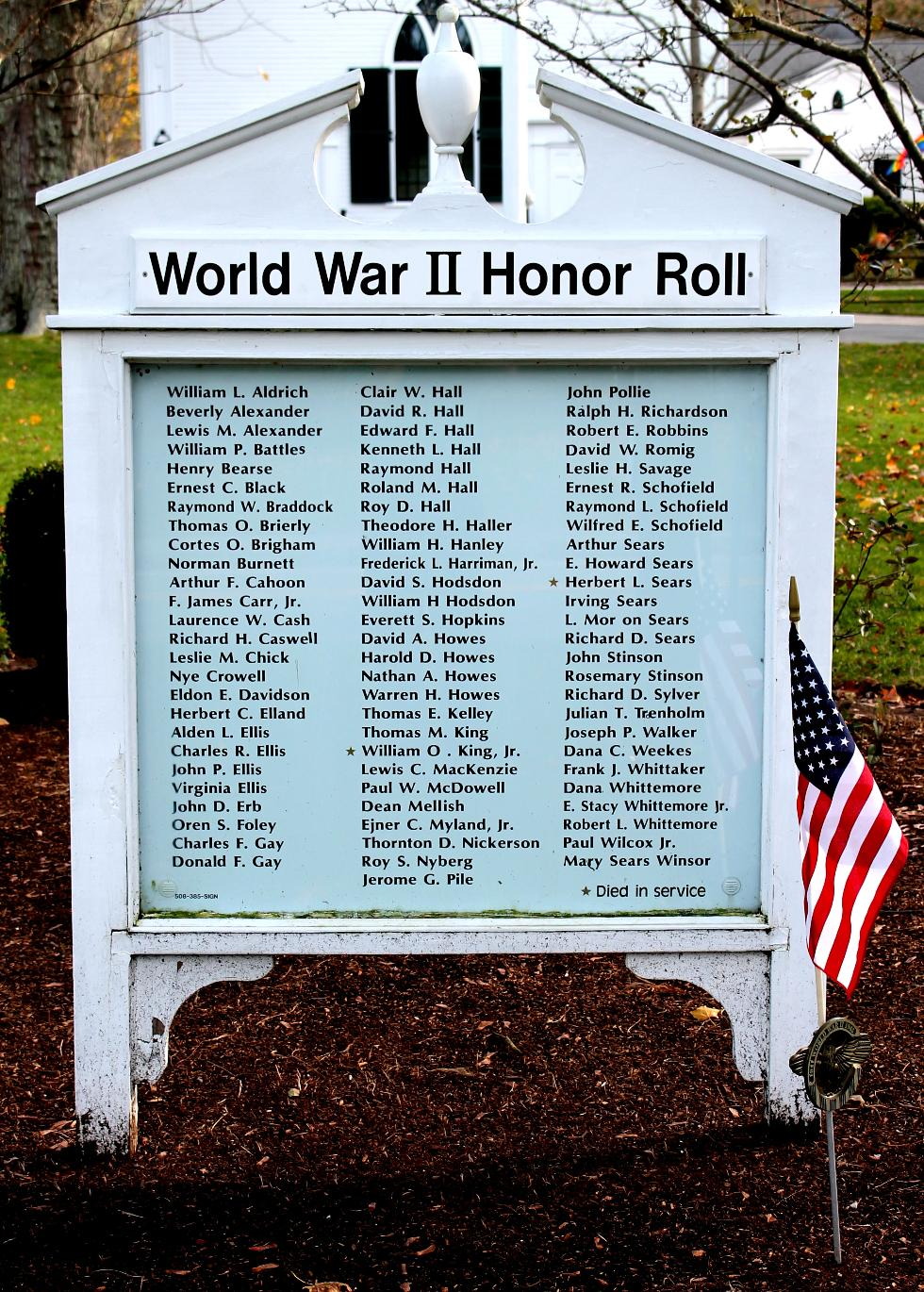 Dennis Massachusetts World War II Veterans Honor Roll
