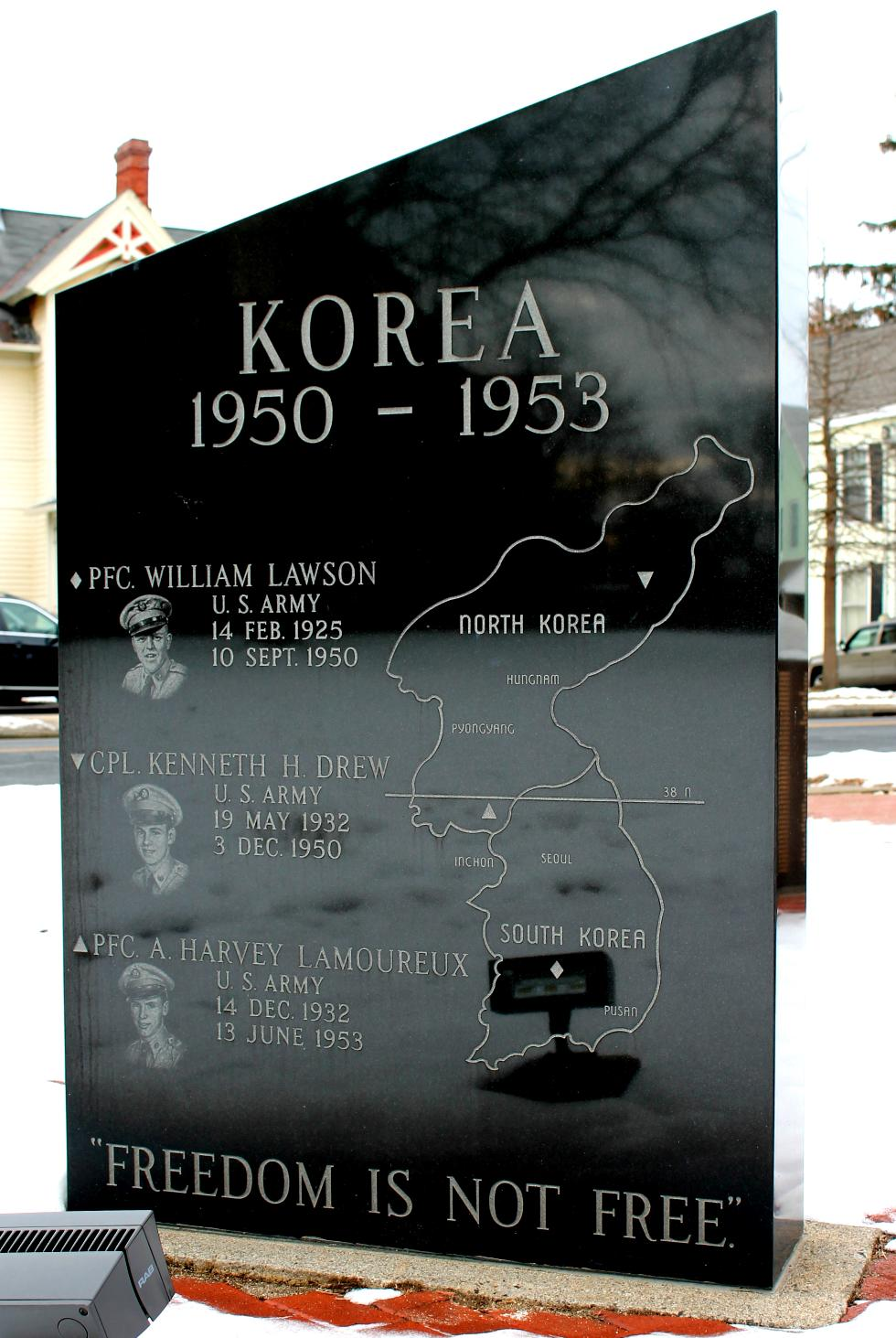 Easthampton Massachusetts Korean War Veterans Memorial