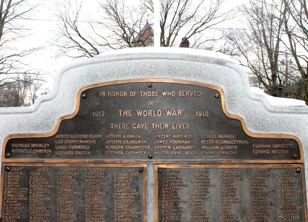 Easthampton Massachusetts World War I Veterans Memorial