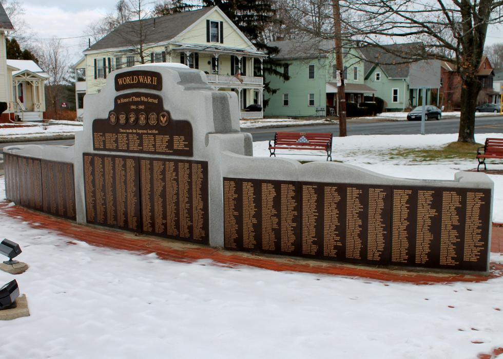 Easthampton Massachusetts World War II Veterans Memorial