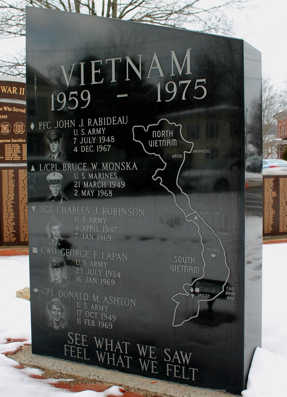 Easthampton Massachusetts Vietnam War Veterans Memorial