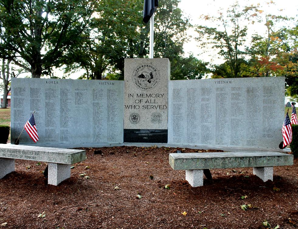Foxboro Massachusetts Korean & Vietnam War Veterans Memorial
