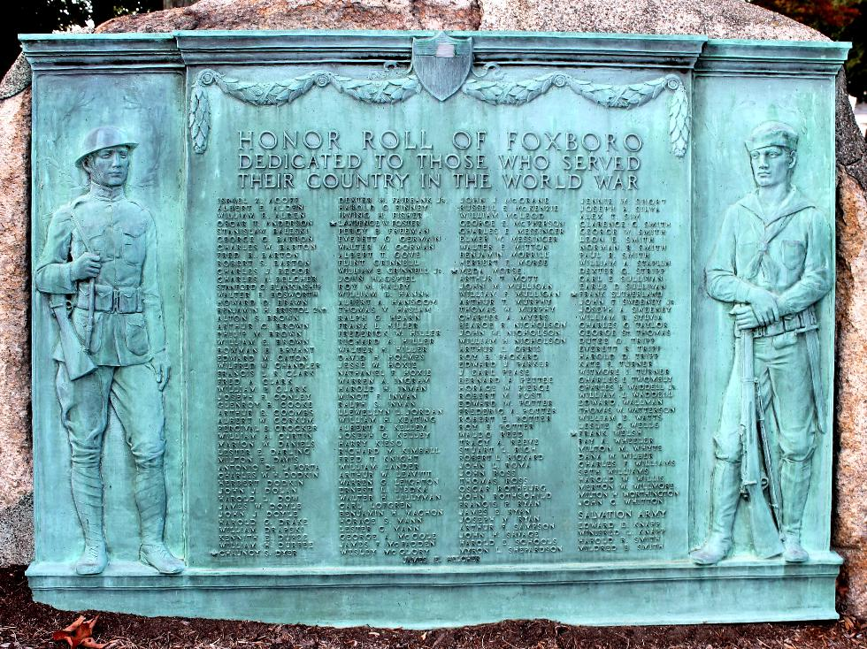 Foxboro Massachusetts World War I Veterans Memorial