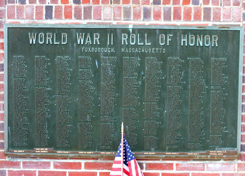 Foxboro Massachusetts World War II Veterans Memorial