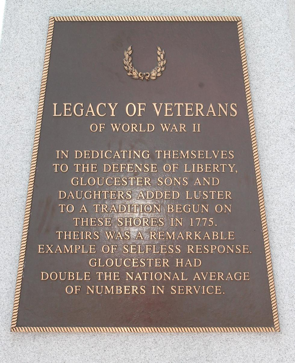 Gloucester Massachusetts World War II Veterans Memorial