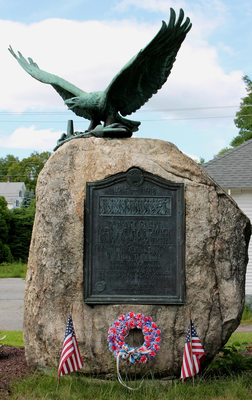 Hardwick Massachusetts World War I Veterans Memorial