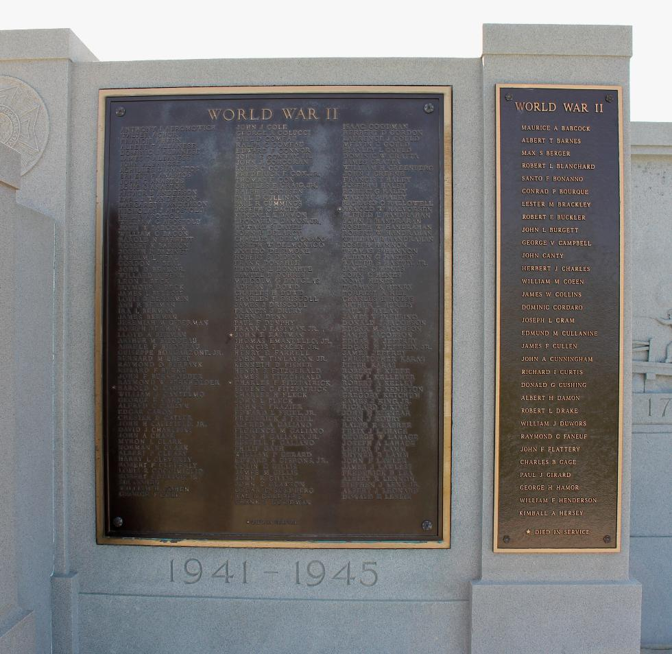Hull Massachusetts World War II Veterans Memorial