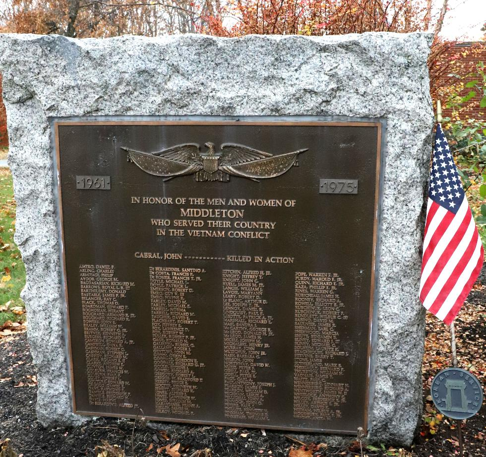 Middleton Massachusetts Vietnam War Veterans Memorial