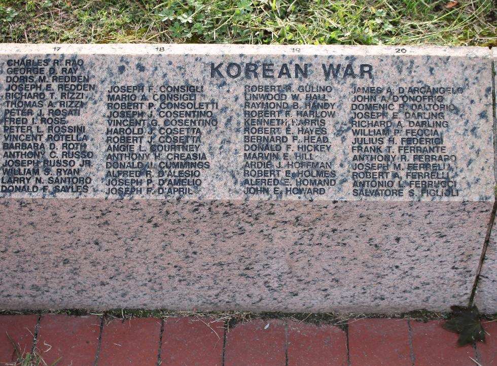 Milford Massachusetts Korean War Veterans Honor Roll