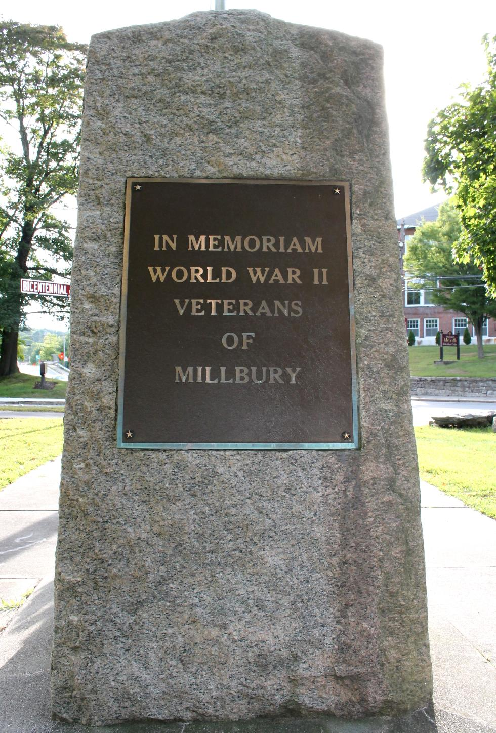 Millbury Massachusetts World War II Veterans Memorial