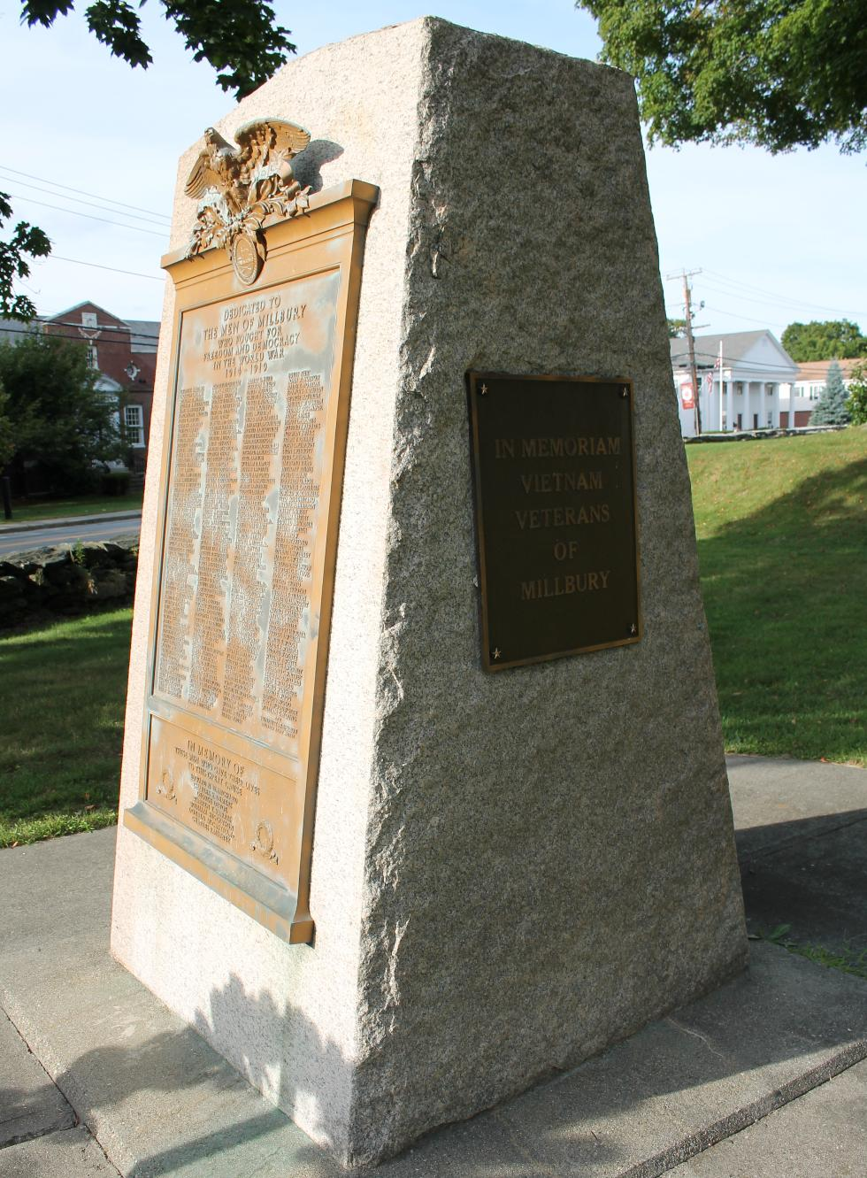 Millbury Massachusetts World War I Veterans Memorial
