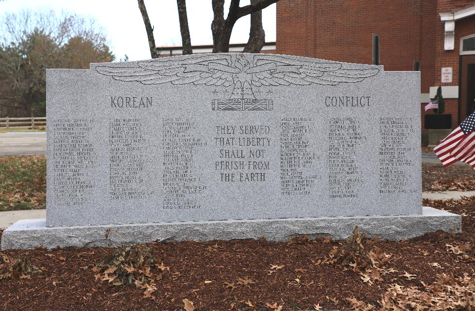Millis Massachusetts Korean War Veterans Memorial