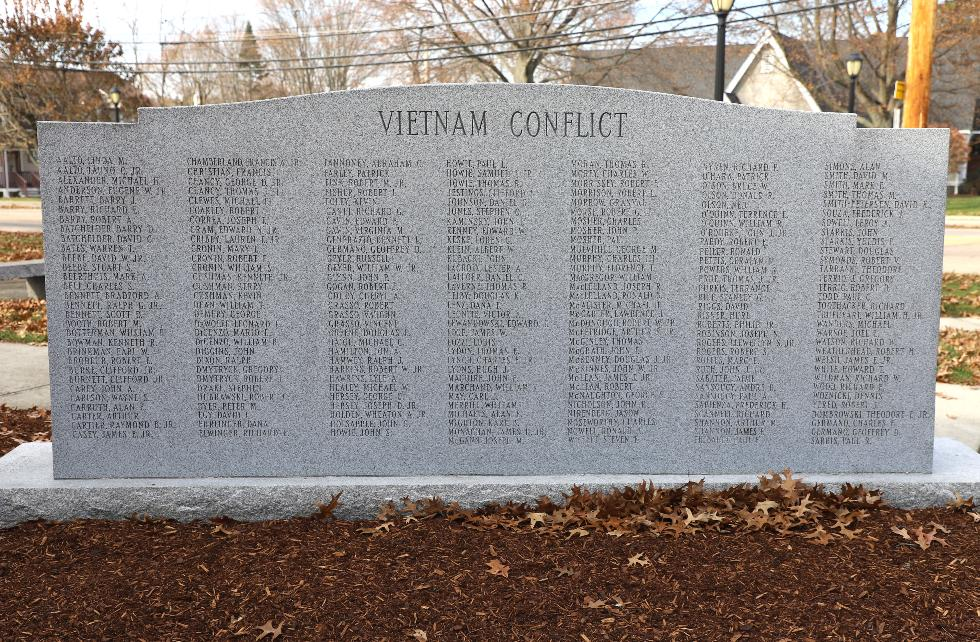 Millis Massachusetts Vietnam War Veterans Memorial
