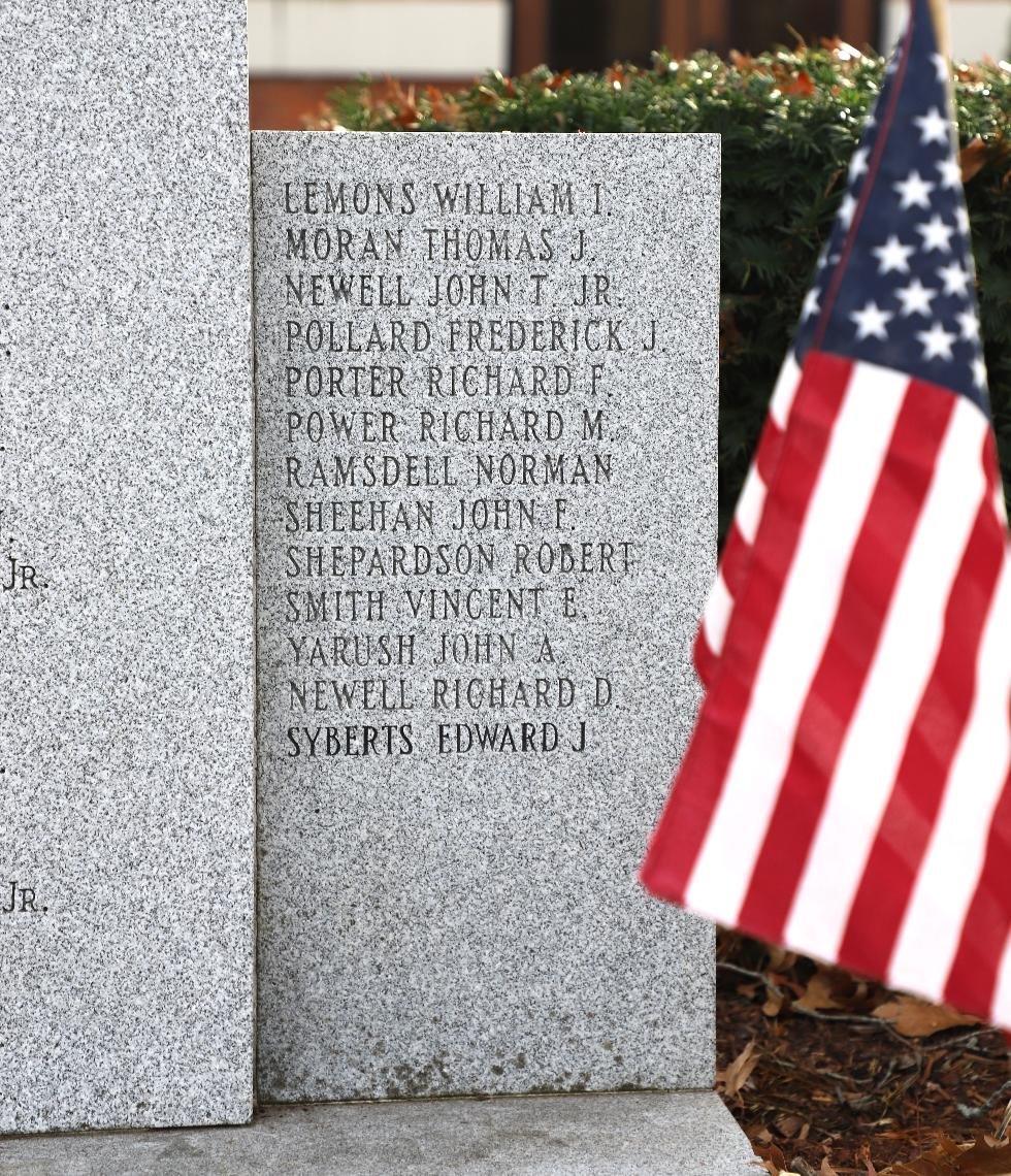 Millis Massachusetts World War II Veterans Memorial