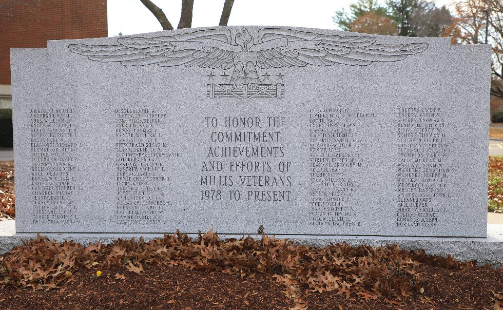 Millis Massachusetts Post 1978 Veterans Memorial