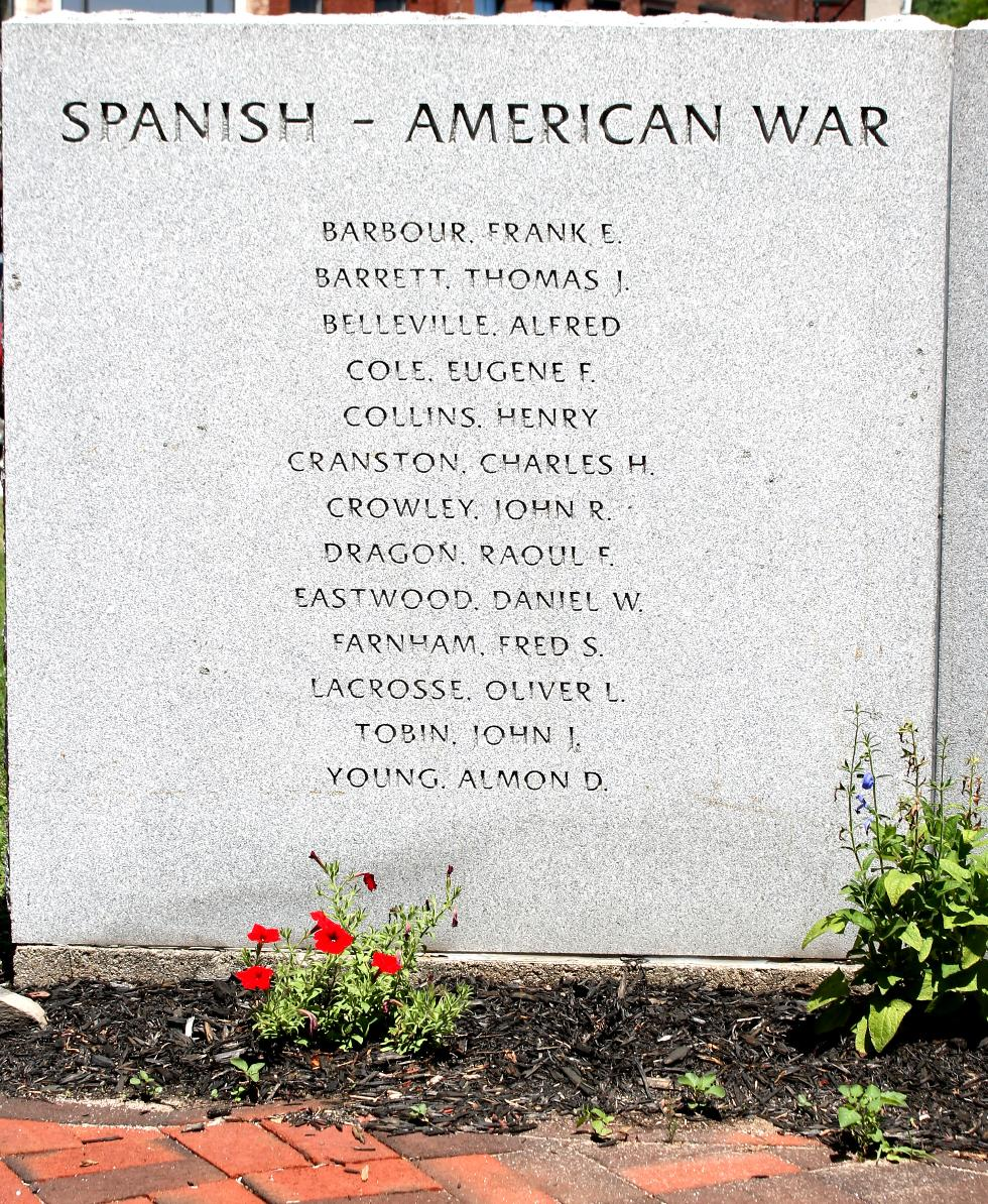 Northampton Massachusetts Veterans Memorial Spanish American War