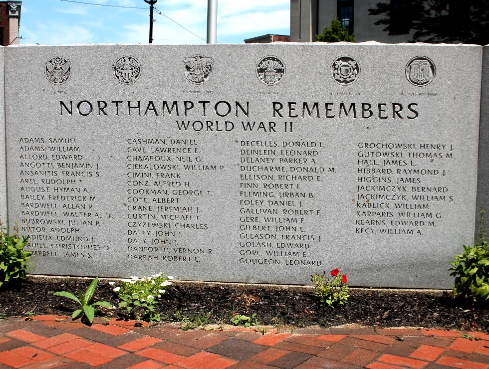 Northampton Massachusetts Veterans Memorial World War II