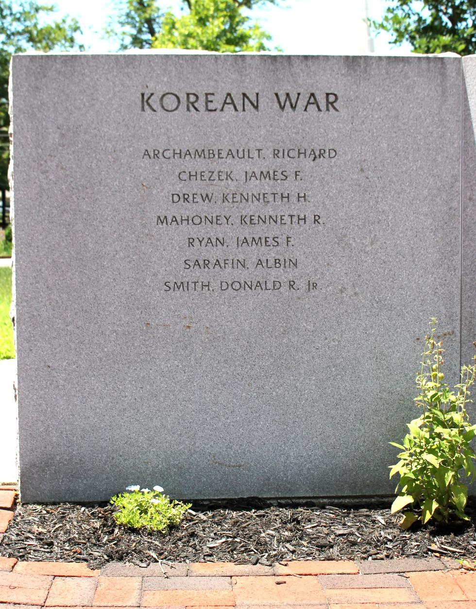 Northampton Massachusetts Veterans Memorial Korean War