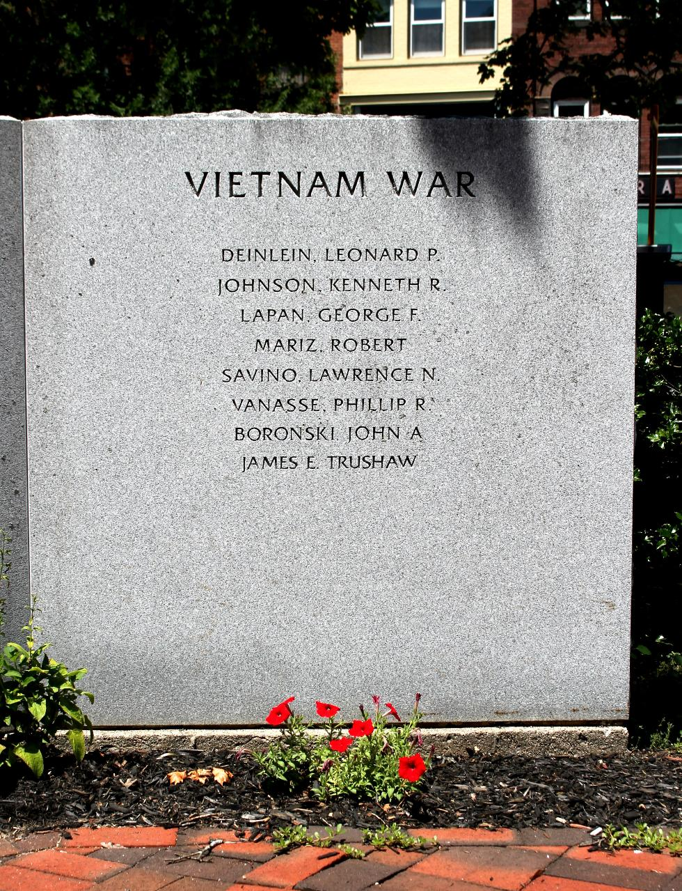 Northampton Massachusetts Veterans Memorial Vietnam War