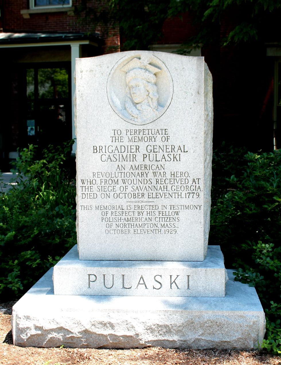 General Casimir Polaski Revolutionary War General Memorial Northampton Mass