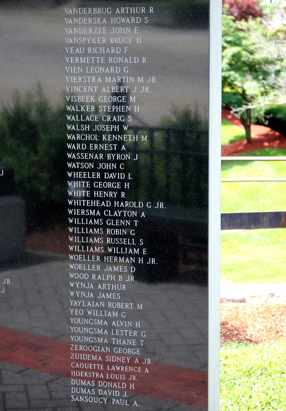 Northbridge Massachusetts Vietnam War Veterans Memorial