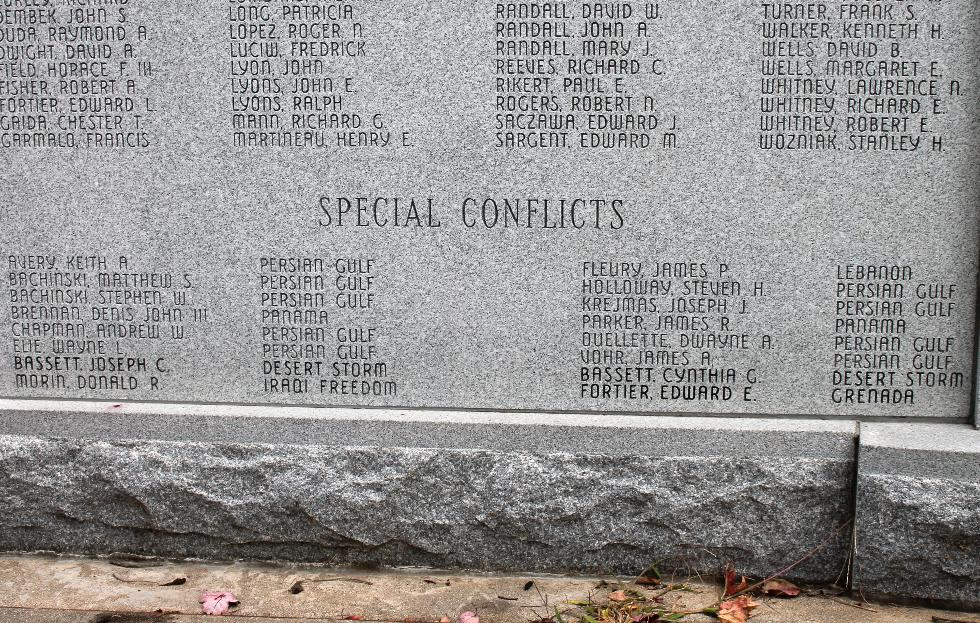 Northfield Massachusetts Special Conflicts Veterans Honor Roll