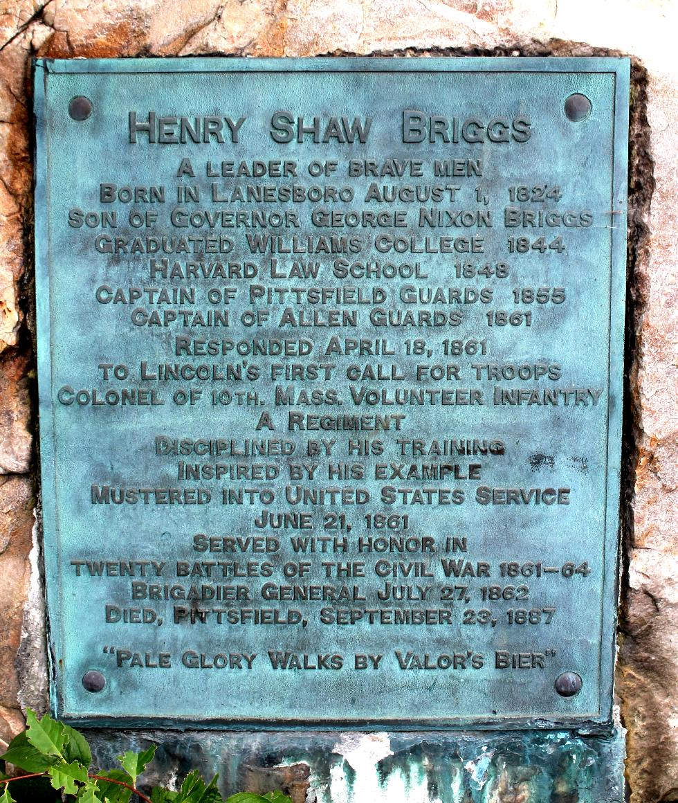 Henry Shaw Briggs Civil War Memorial Pittsfield Massachusetts