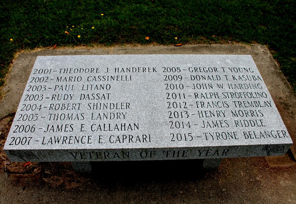 Pittsfield Massachusetts Veteran of the Year Bench