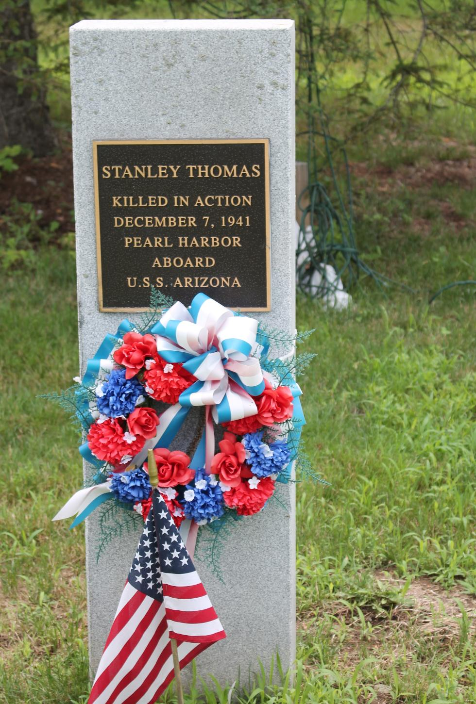 Stanley Thomas - Rockdale Mass Pearl harbor Memorial