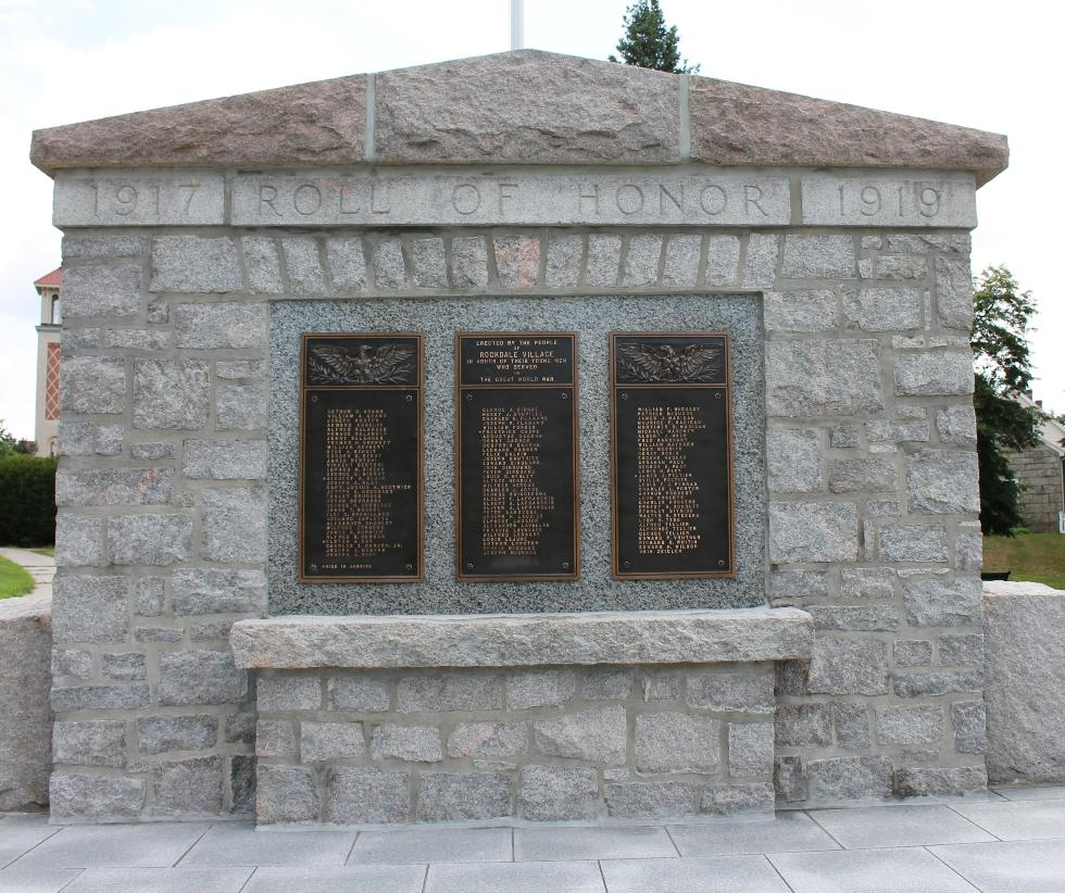 Rockdale Massachusetts World War I Veterans Memorial