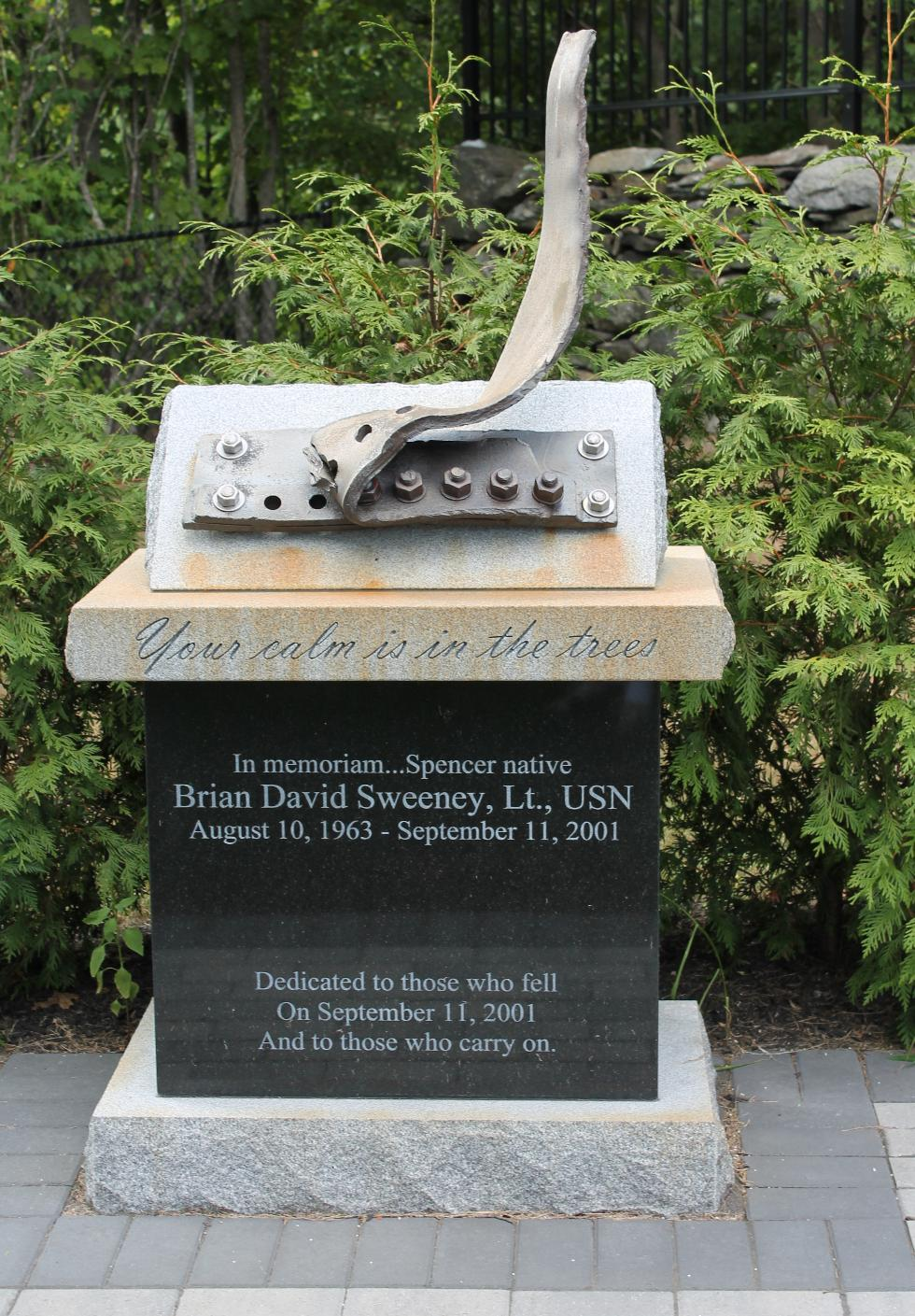 Lt Brian David Sweeney 9-11 Memorial Spencer Mass