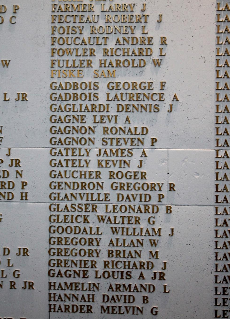 Spencer Masssachusetts Vietnam War Veterans Honor Roll