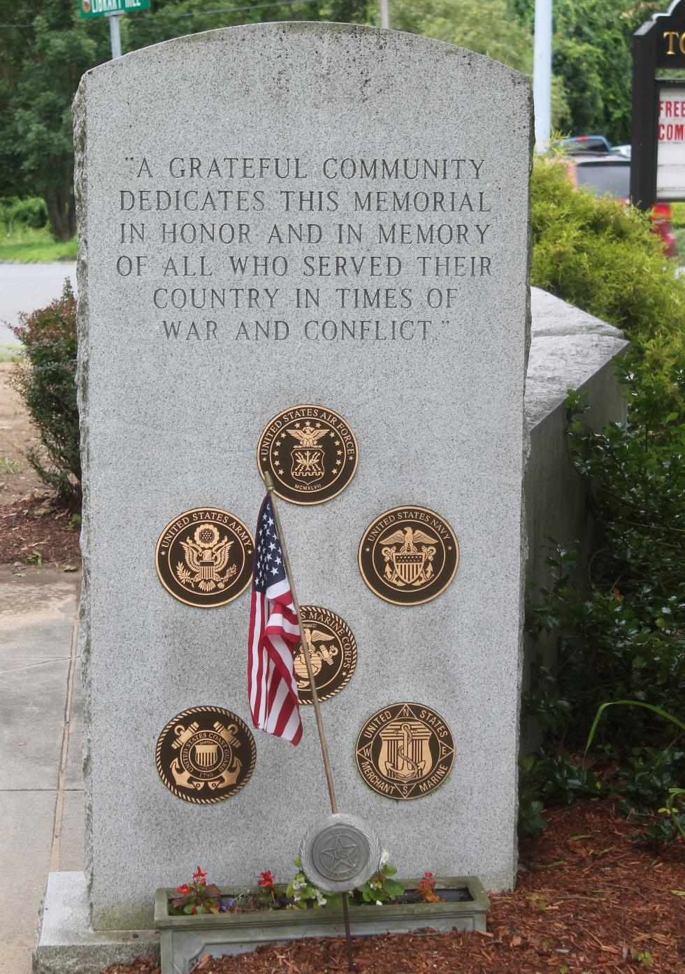 Stowe Massachusetts All Service Veterans Memorial