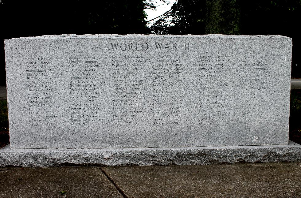 Stowe Massachusetts World War II Veterans Memorial