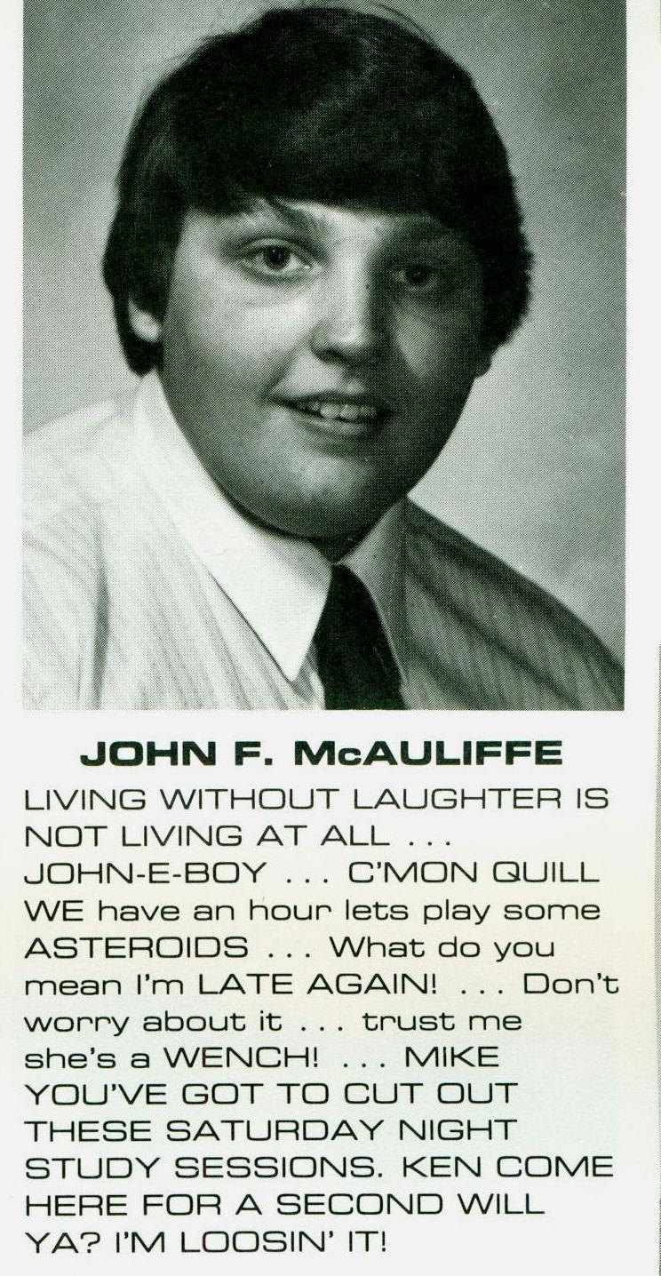 John McAuliffe WITI Yearbook Photo